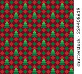 christmas gingham or plaid...   Shutterstock .eps vector #234408619