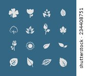 leaves flowers vector icon set | Shutterstock .eps vector #234408751