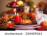 Festive Autumn Serving Table I...
