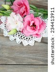 beautiful eustoma flowers on... | Shutterstock . vector #234413911