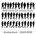 silhouettes of running people.... | Shutterstock .eps vector #234413989