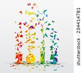 happy new year 2015 abstract...   Shutterstock .eps vector #234414781