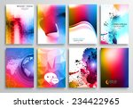 set of flyer design  web...   Shutterstock . vector #234422965