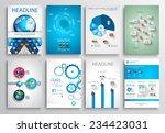 set of flyer design  web...   Shutterstock . vector #234423031