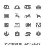 camping icons | Shutterstock .eps vector #234423199