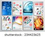set of flyer design  web... | Shutterstock . vector #234423625