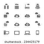 cloud computing icons | Shutterstock .eps vector #234425179
