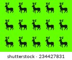 christmas deers on green... | Shutterstock .eps vector #234427831