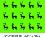 christmas deers on green... | Shutterstock .eps vector #234427831