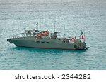 Navy Border Patrol Boat In Grey ...