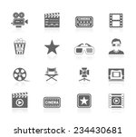 cinema icons | Shutterstock .eps vector #234430681