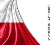 Stock photo poland flag and white background 234430894