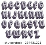 3d bold and big font ... | Shutterstock .eps vector #234431221