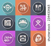kitchen icon menu cuisine... | Shutterstock .eps vector #234433465