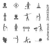 road worker black icons set... | Shutterstock .eps vector #234433639