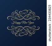 christmas and new year... | Shutterstock .eps vector #234433825