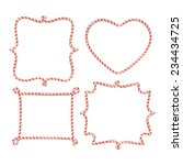 blank candy cane borders | Shutterstock .eps vector #234434725