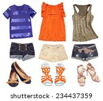 bright female summer clothes... | Shutterstock . vector #234437359