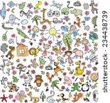 vector children's drawings  | Shutterstock .eps vector #234438739