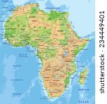 high detailed africa physical... | Shutterstock .eps vector #234449401