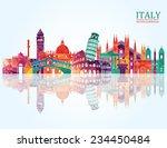 italy skyline. vector... | Shutterstock .eps vector #234450484
