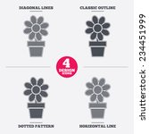 flowers in pot icon. bouquet of ...   Shutterstock .eps vector #234451999