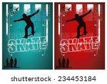 grunge and vintage skate poster ... | Shutterstock .eps vector #234453184