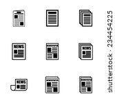 vector newspaper icon set on... | Shutterstock .eps vector #234454225