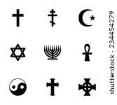 vector religious symbols icon...   Shutterstock .eps vector #234454279