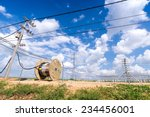 industrial cable installation ... | Shutterstock . vector #234456001