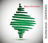 watercolor stylish christmas... | Shutterstock .eps vector #234456601