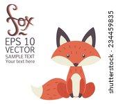 cute cartoon fox. vector... | Shutterstock .eps vector #234459835