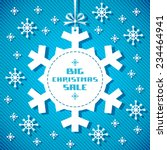 vector snowflake tag  ... | Shutterstock .eps vector #234464941