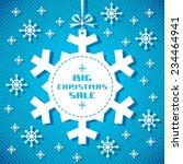 vector snowflake tag  ... | Shutterstock .eps vector #234464941