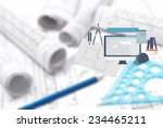 drawing and various tools with... | Shutterstock . vector #234465211
