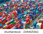 industrial port with containers | Shutterstock . vector #234465361