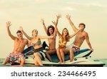 group of happy multi ethnic... | Shutterstock . vector #234466495