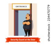 security guard or bouncer... | Shutterstock .eps vector #234470779