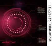 sci fi futuristic user... | Shutterstock .eps vector #234477484