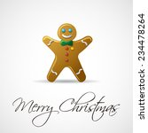 gingerbread man greeting card.... | Shutterstock .eps vector #234478264