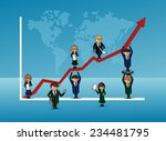 finance bussines team people... | Shutterstock . vector #234481795