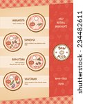 pizza menu with different... | Shutterstock .eps vector #234482611