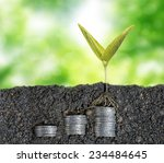 growing seed with stacked coin... | Shutterstock . vector #234484645
