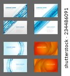set of business cards design... | Shutterstock .eps vector #234486091