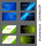set of business cards design... | Shutterstock .eps vector #234486109