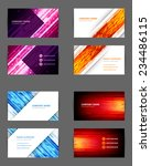 set of business cards design... | Shutterstock .eps vector #234486115