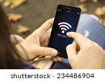 connectivity concept  wifi zone ... | Shutterstock . vector #234486904
