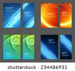 set of brochure flyer design... | Shutterstock .eps vector #234486931
