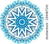 Mandala Pattern. Watercolor...