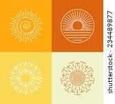 vector outline sun icons and... | Shutterstock .eps vector #234489877